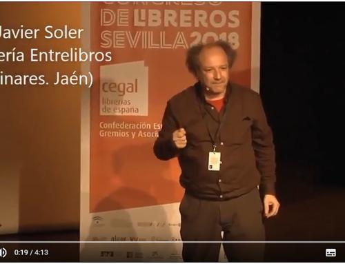 Javier Soler, de Librería EntreLibros, en el Congreso de Libreros